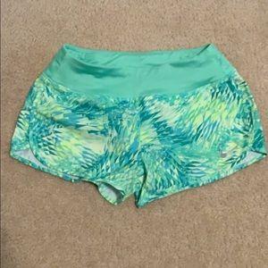 Nike green running shorts women's small